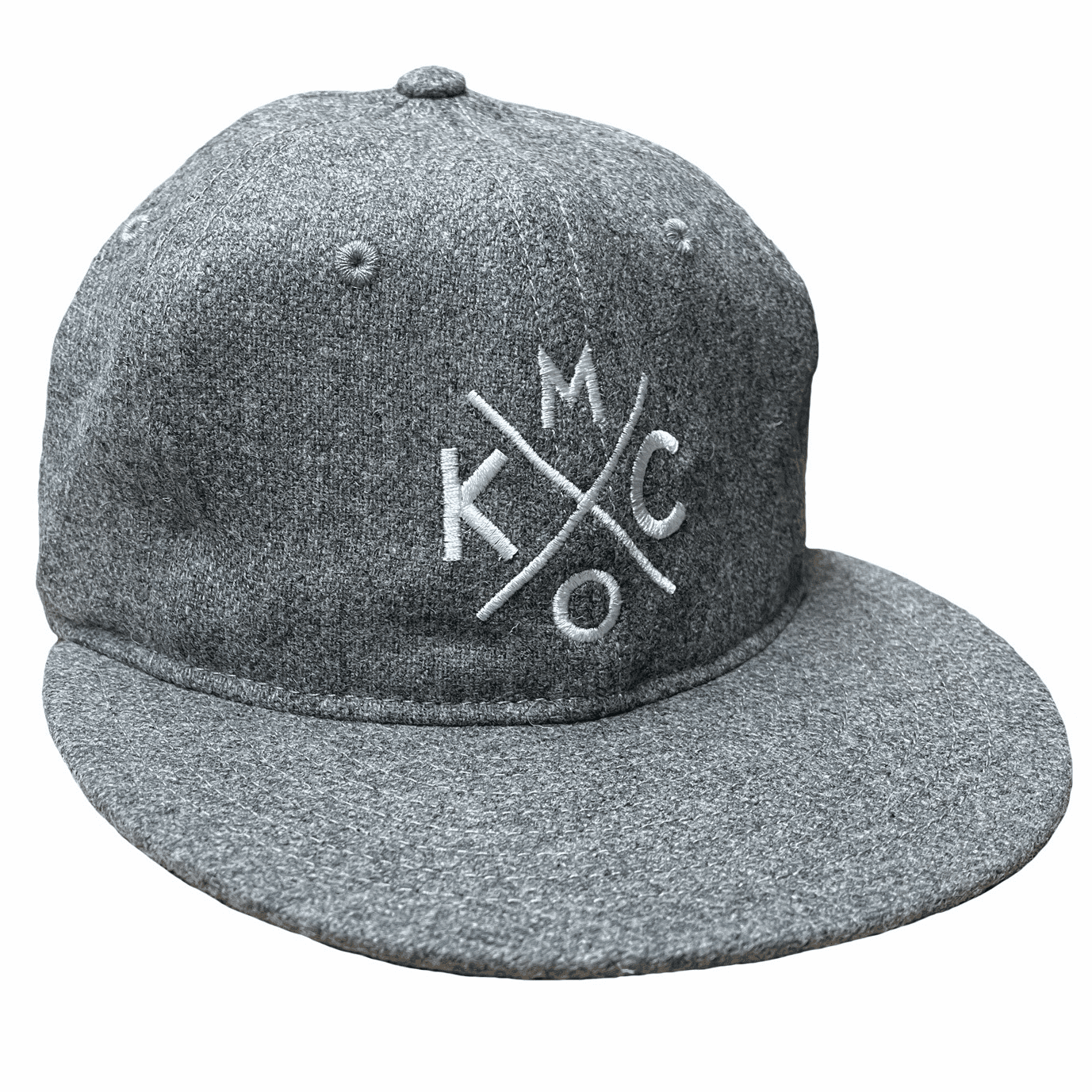 KCMO Wool Flatbill Hat<br>Heather Grey