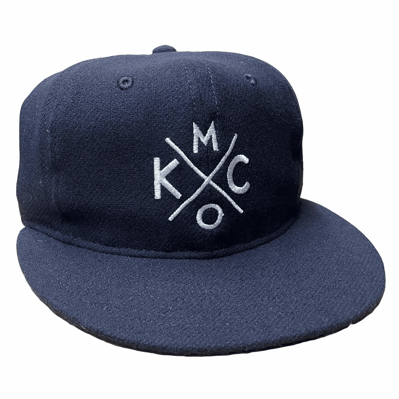 KCMO Wool Flatbill Hat<br>Navy