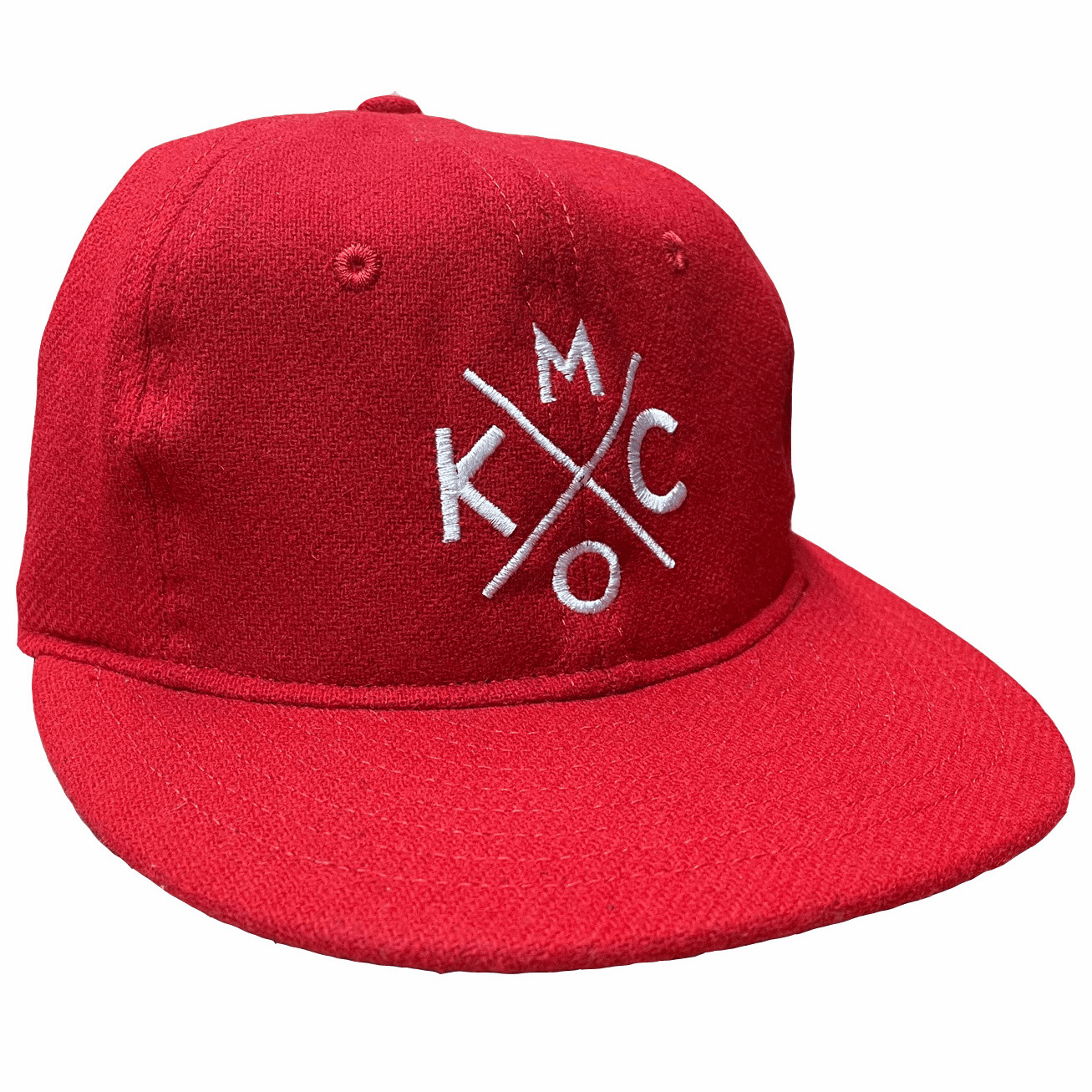 KCMO Wool Flatbill Hat<br>Red