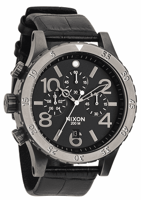 Nixon 48-20 Chrono Leather Watch <br>Mens