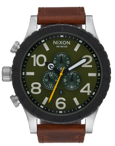 Nixon 51-30 Chrono Leather Watch<BR>Mens