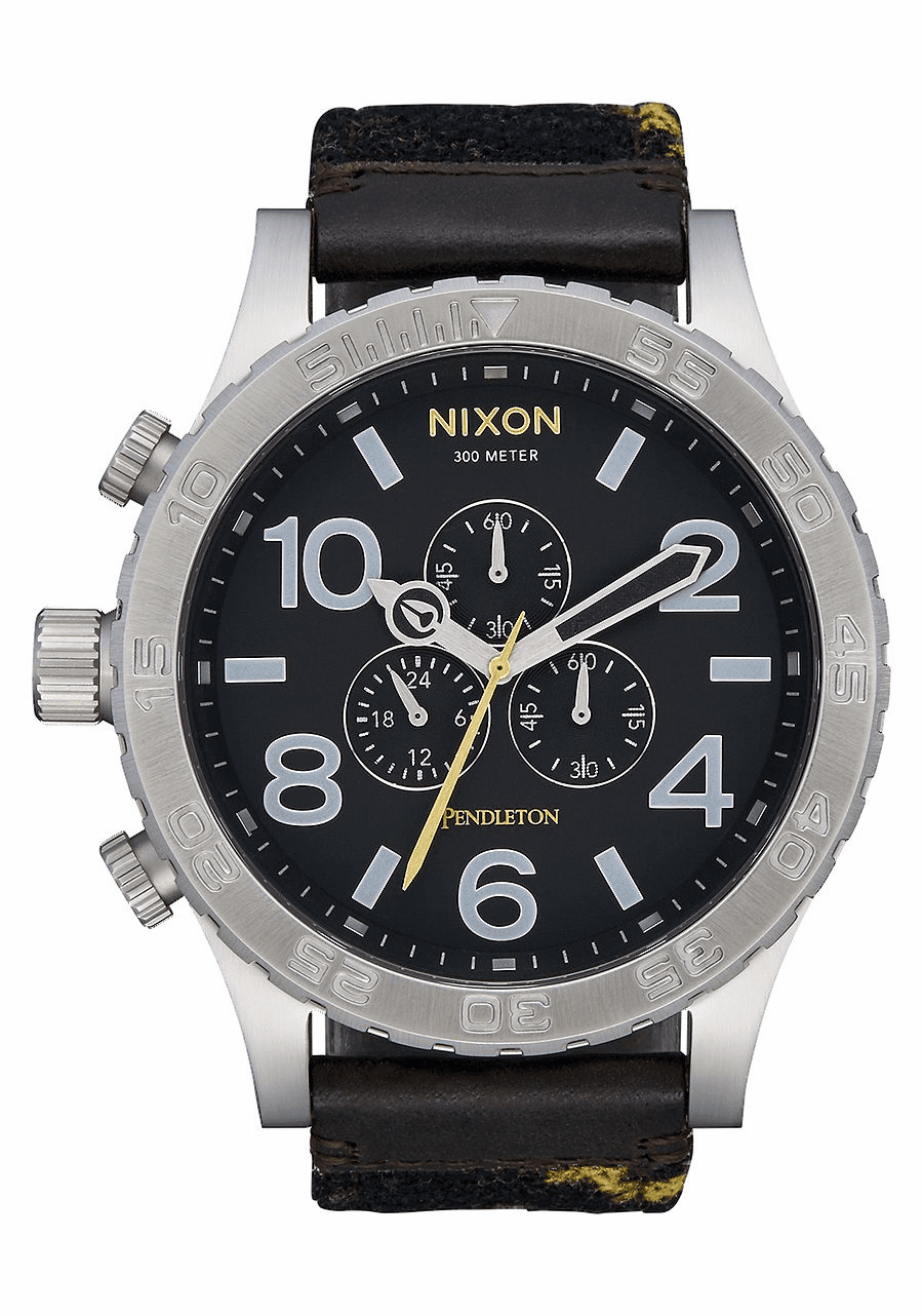 Nixon 51-30 Chrono Leather Watch<br>Midnight Eyes