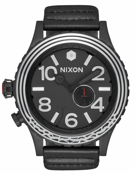 Nixon 51-30 Leather Watch<br>STAR WARS X NIXON<br>Kylo Black