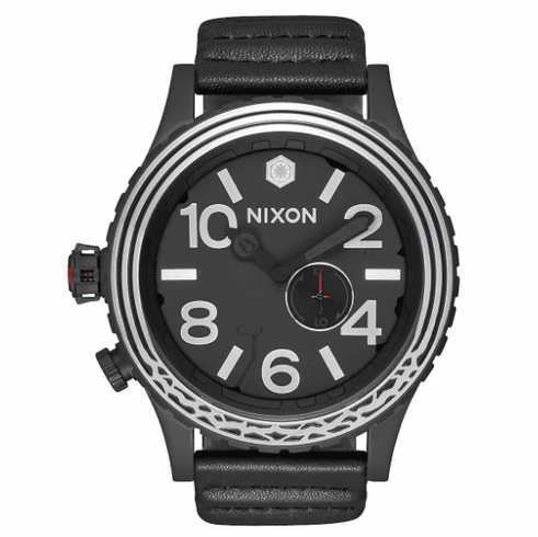 (SALE!!!) Nixon 51-30 Leather Watch<br>STAR WARS X NIXON<br>Kylo Black