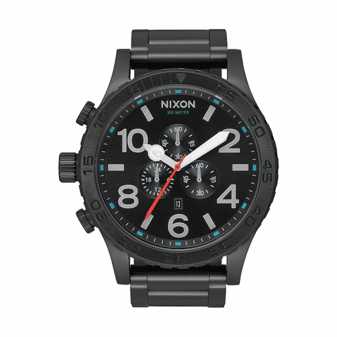 Nixon 51-30 Chrono Watch<br>All Black/Silver/Lum