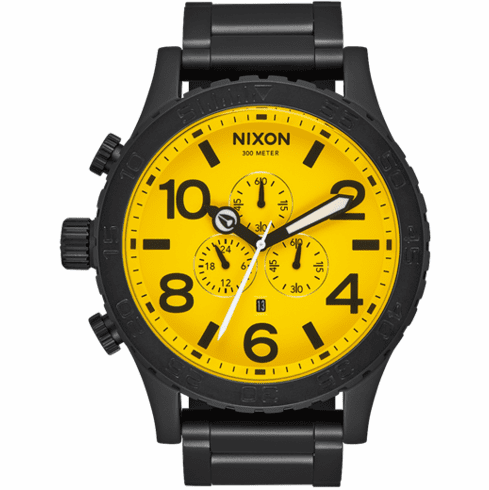 Nixon 51-30 Chrono Watch<br>All Black/Yellow