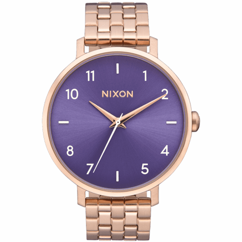 (Sale!!!) Nixon Arrow Watch<br>Rose Gold/Purple