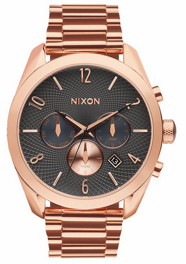 Nixon Bullet Chrono Watch<br>All Rose Gold/Gunmetal