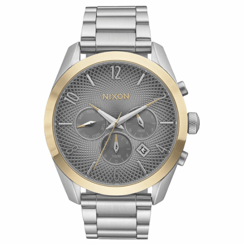 Nixon Bullet Chrono Watch<br>Silver/Gold/Grey