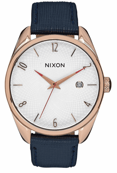 (SALE!!!) Nixon Bullet Leather Watch<br>Rose Gold/Navy