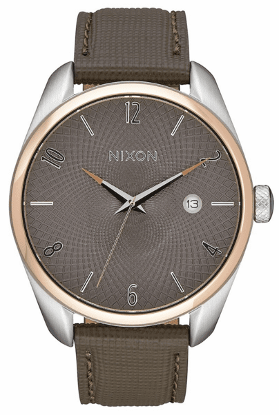 (SALE!!!) Nixon Bullet Leather Watch<br>Rose Gold/Taupe