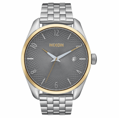 Nixon Bullet Watch<br>Silver/Gold/Grey