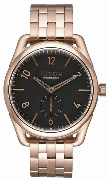 Nixon C39 SS Watch<br>All Rose Gold/Black
