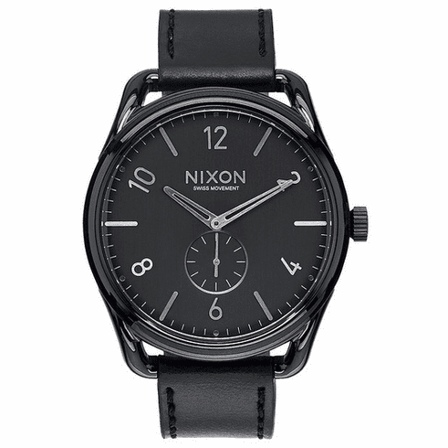 (SALE!!!) Nixon C45 Leather Watch<br>Black