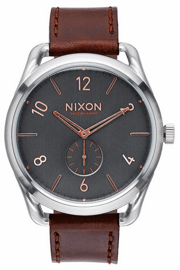 Nixon C45 Leather Watch<br>Men's