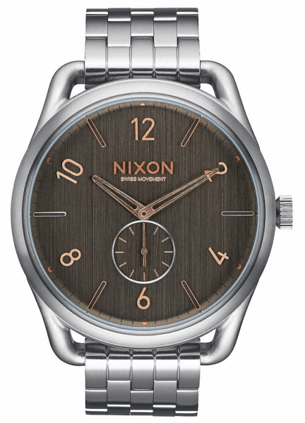 (SALE!!!) Nixon C45 SS Watch<br>Grey/Rose Gold