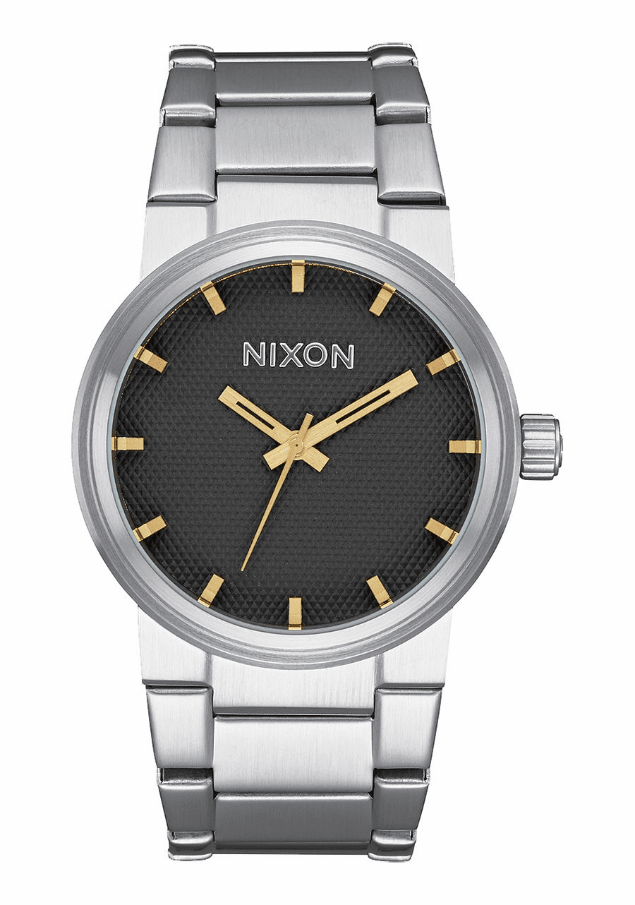 (SALE!!!) Nixon Cannon Watch<br>Black Stamped/Gold