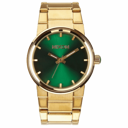 Nixon Cannon Watch<br>Gold/Green Sunray