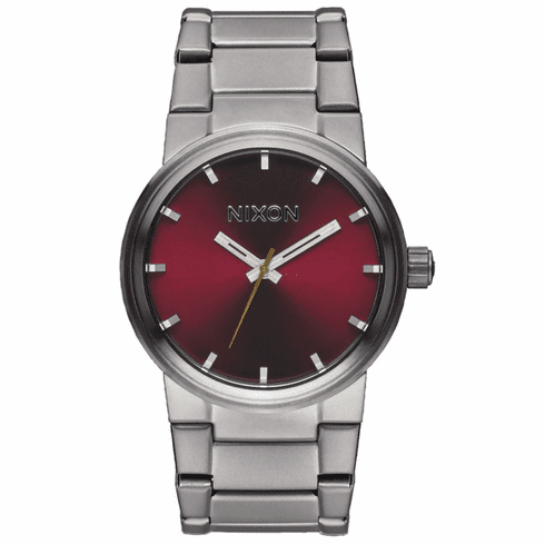 Nixon Cannon Watch<br>Gunmetal/Deep Burgundy