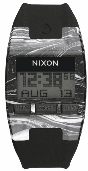 Nixon Comp S Watch<br>Marbled Black/White