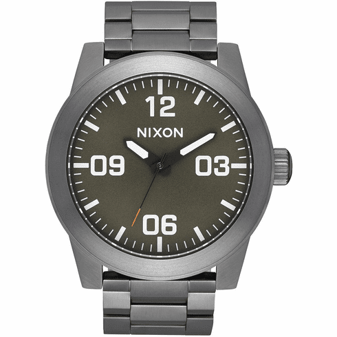 (SALE!!!) Nixon Corporal SS Watch<br>All Gunmetal/Slate/Orange