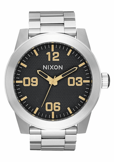 Nixon Corporal SS Watch<br>Black Stamped/Gold
