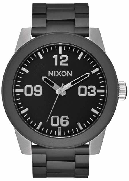 Nixon Corporal SS Watch<br>Black/Steel