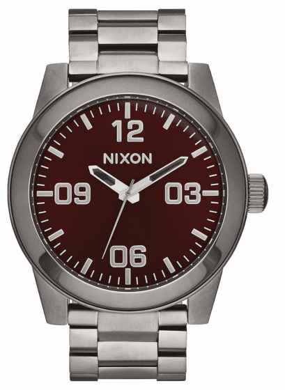 Nixon Corporal SS Watch<br>Gunmetal/Deep Burgundy