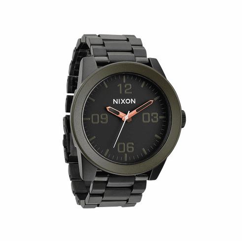 Nixon Corporal SS Watch<br>Matte Black/Industrial Green