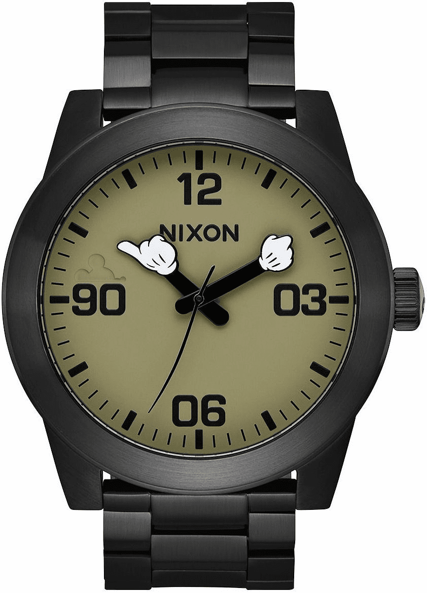 (SALE!!!) Nixon Corporal SS Watch<br>MICKEY X NIXON<br>Black/Surplus/Mickey