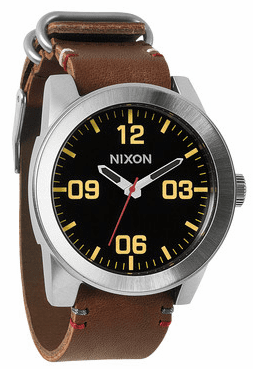 (Sale!!!) Nixon Corporal Watch<br>Black/Brown