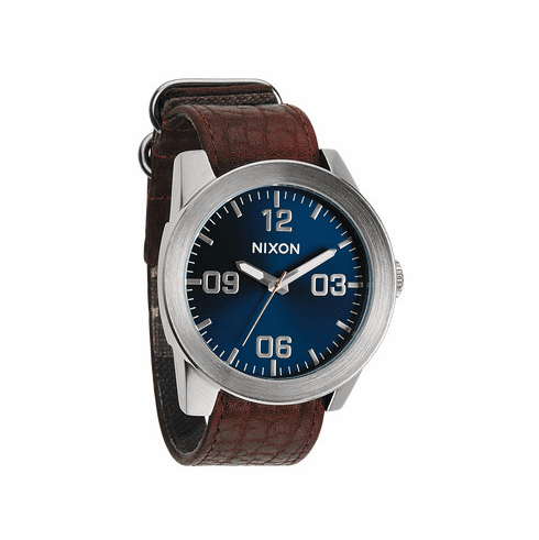 Nixon Corporal Watch<br>Brown/Blue Sunray