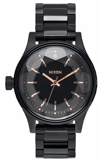 (SALE!!!) Nixon Facet 38 Watch<br>All Black/Rose Gold
