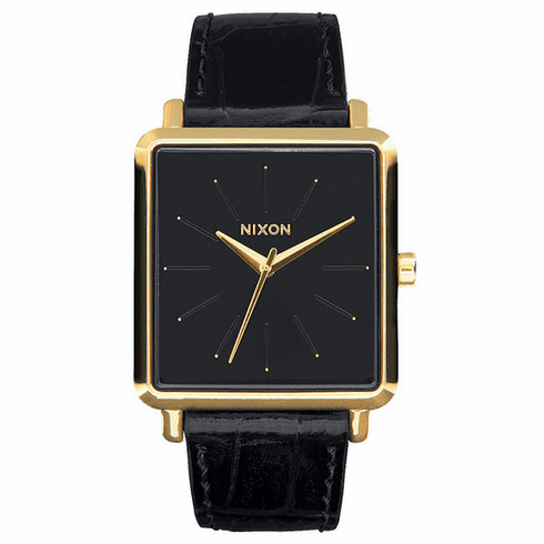 Nixon K Squared Watch<br>Gold/Black Gator