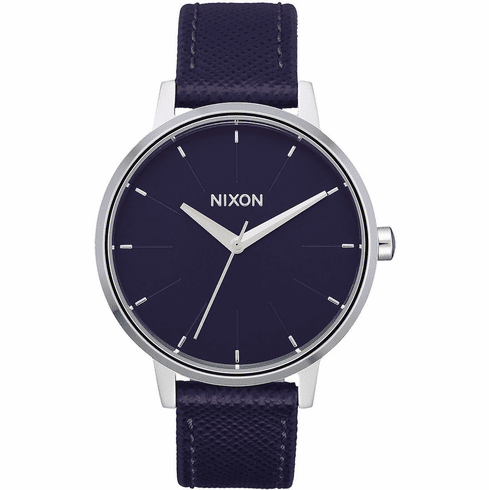 (SALE!!!) Nixon Kensington Leather Watch<br>Aubergine