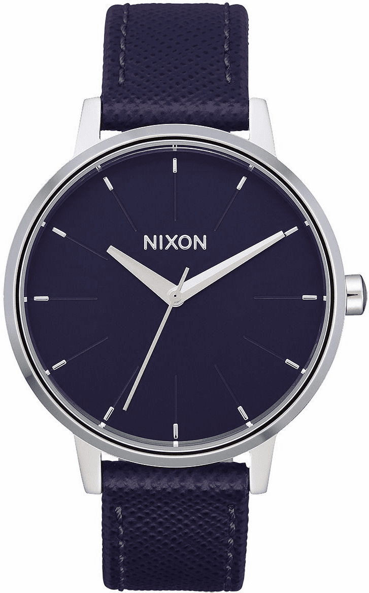 Nixon Kensington Leather Watch<br>Aubergine