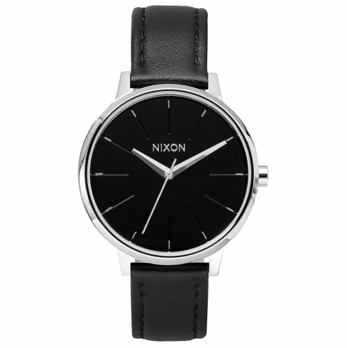 Nixon Kensington Leather Watch<BR>Black