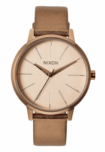 Nixon Kensington Leather Watch<BR>Ladies
