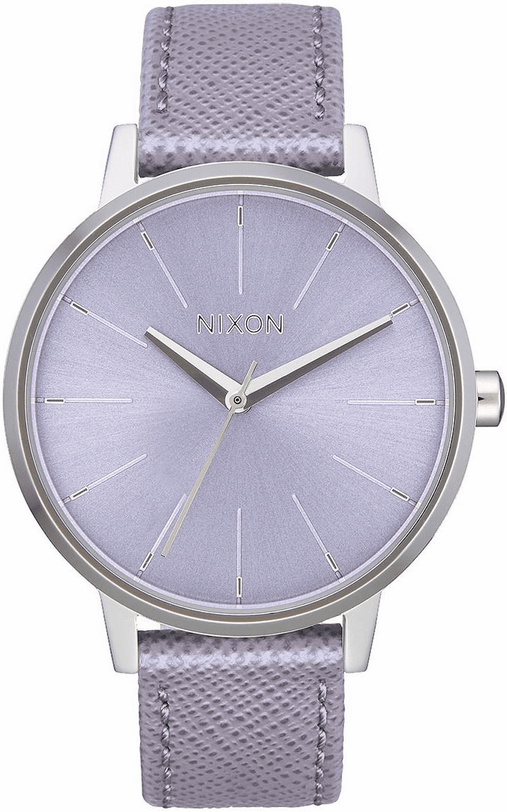 Nixon Kensington Leather Watch<br>Lavender