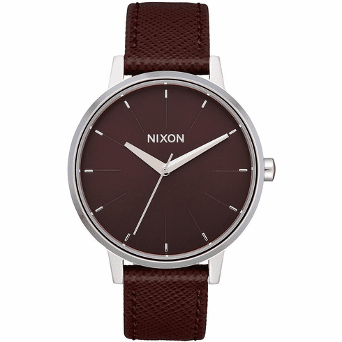 (SALE!!!) Nixon Kensington Leather Watch<br>Port