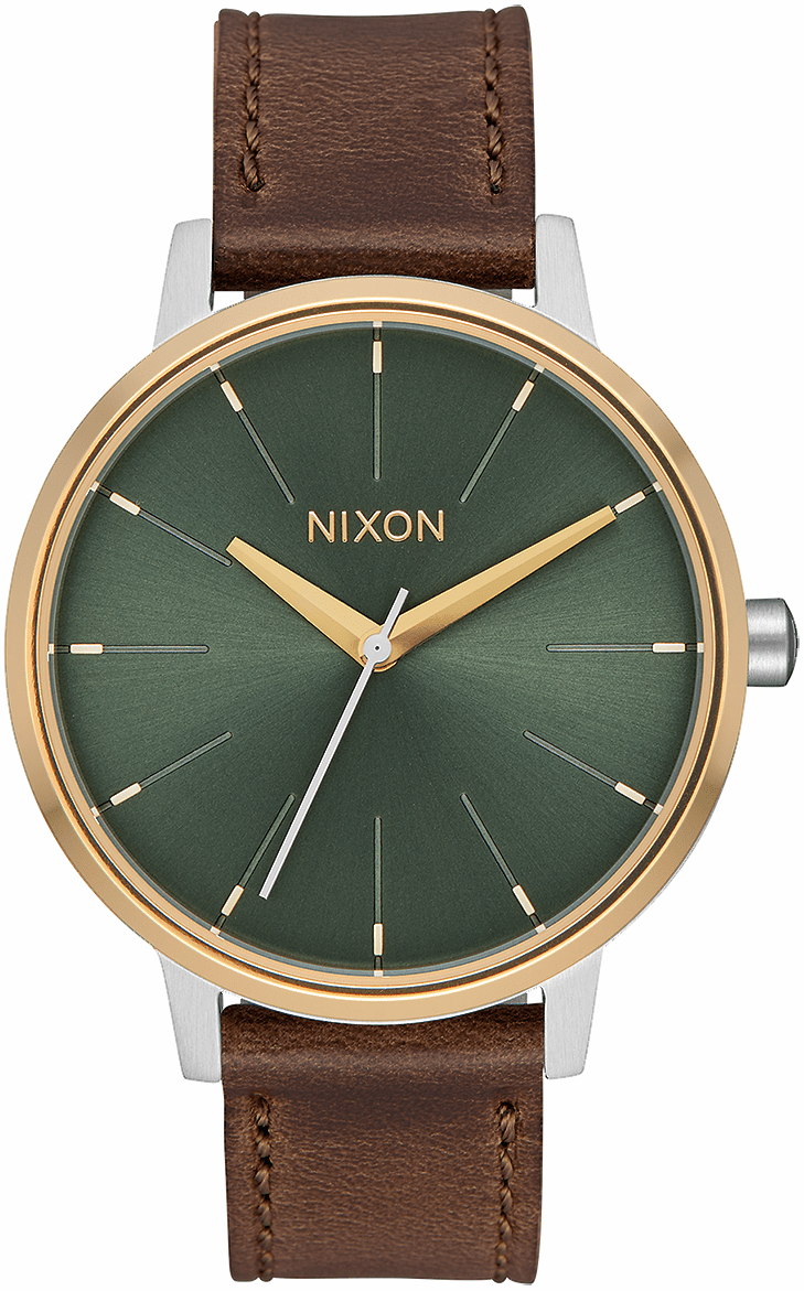 (Sale!!!) Nixon Kensington Leather Watch<br>Silver/Gold/Agave