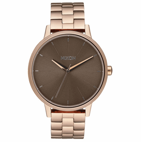 Nixon Kensington Watch<br>Rose Gold/Taupe