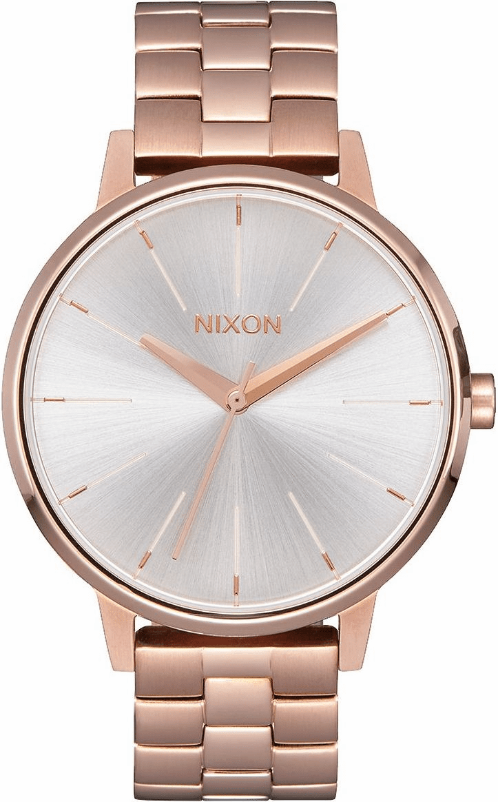 Nixon Kensington Watch<br>Rose Gold/White