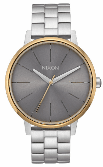 (Sale!!!) Nixon Kensington Watch<br>Silver/Gold/Grey