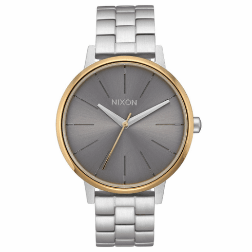Nixon Kensington Watch<br>Silver/Gold/Grey