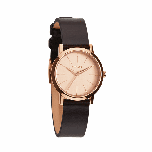 Nixon Kenzi Leather Watch<br>Rose Gold/Brown