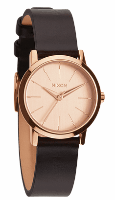 (SALE!!!) Nixon Kenzi Leather Watch<br>Rose Gold/Brown