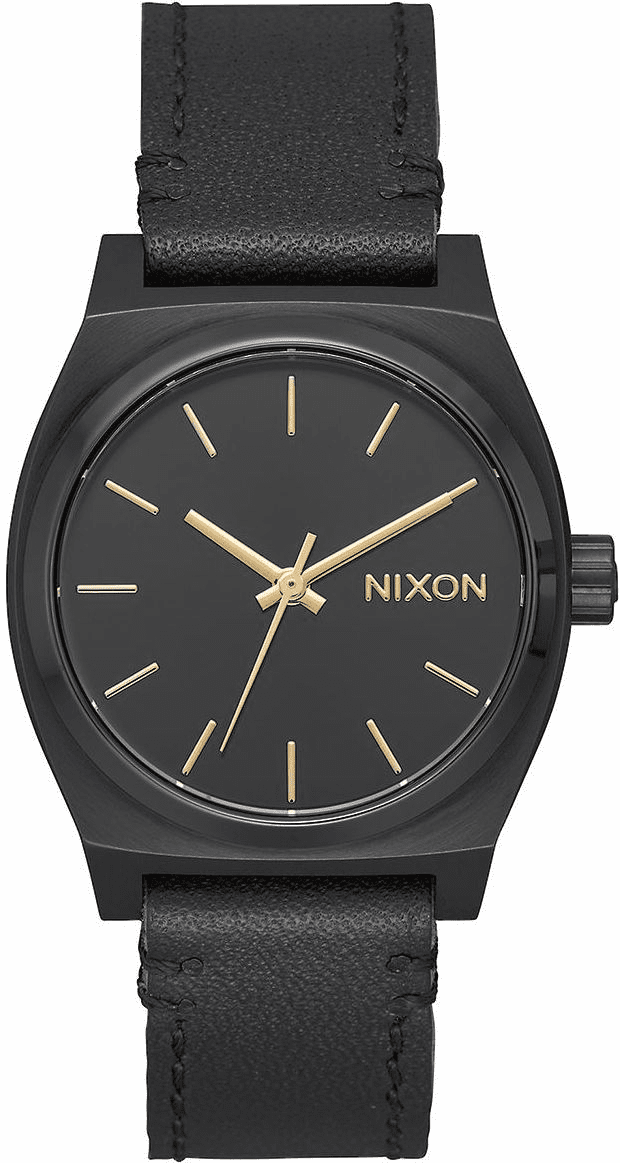 (SALE!!!) Nixon Medium Time Teller Leather Watch<br>All Black