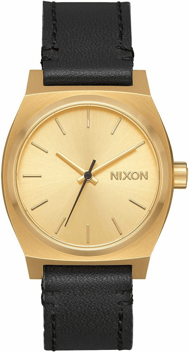 Nixon Medium Time Teller Leather Watch<br>Ladies