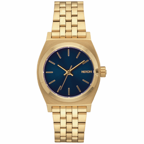 Nixon Medium Time Teller Watch<br>All Light Gold/Cobalt